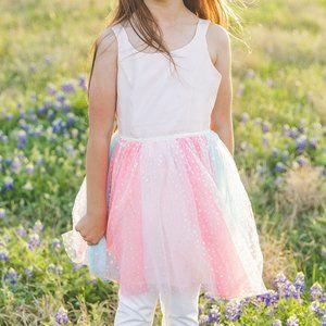 Pastel Sparkly Tutu Dress Sz M